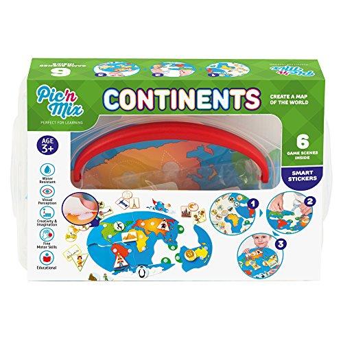 Picnmix Continents - Jeux et Jouets éducatifs pour les enfants de 4 ans à 7 ans