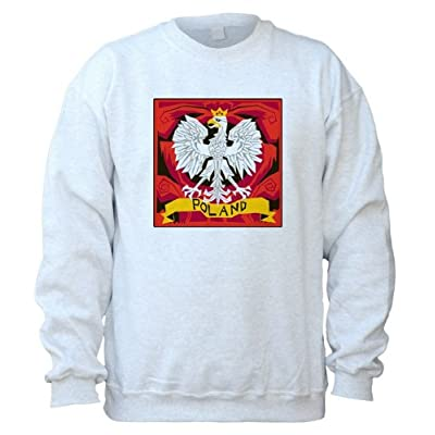 New POLAND Eagle Design - Adult Crew Neck Sweatshirt for cheap