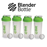 New Genuine Multi 4 Pack 28oz Small Mini Green Classic Blender Bottle Sundesa BlenderBottle Fitness Water Bottle Shaker Cup For Protein Shakes and other powder supplements with stainless steel wire whisk blenderball 28 Ounces to the brim Shaker Cup