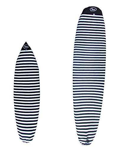 "Surfboard Sock Cover - Light Protective Bag for your Surf Board (Black and White, 9'6"")"