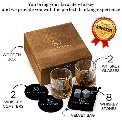 Lovely Fujibiki Premium Whiskey Glasses And Granite Stones Gift Set Other Bar Tools & Accessories Kitchen, Dining & Bar