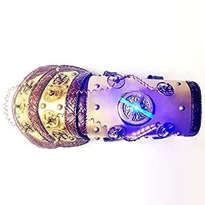UICICI War Guantelete dorado brazo medio dedo con luz LED de ...