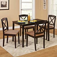 Mason 5 Piece Cross Back Dining Set,Espresso