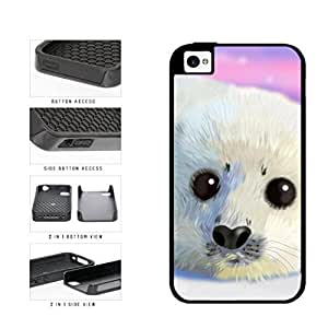 Adorable Panda in the Sun Dual Layer Phone Case Back Cover Apple iPhone 5c includes diy case Cloth and Warranty Label