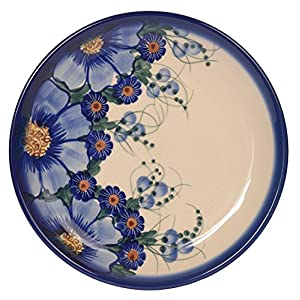 Traditional Polish Pottery, Handcrafted Ceramic Dessert Plate 19cm, Boleslawiec Style Pattern, T.102.Passion