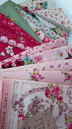 Quilt Gate - SUZONNE RuRu Bouquet Quilt Gate ~ Japanese Cotton Quilting Fabrics ~ 18 Fat Quarters Bundle ~ 4.5 Yards