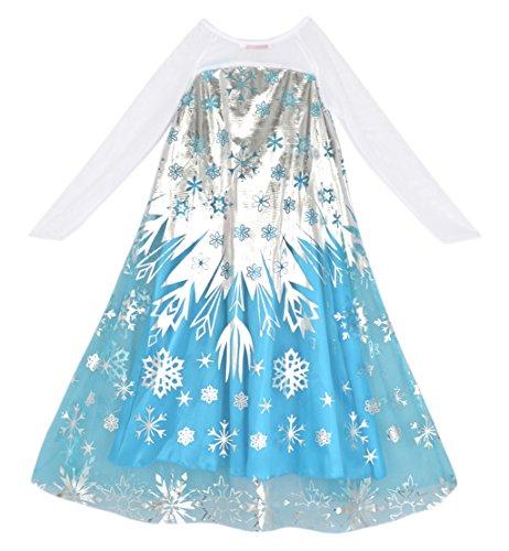 Eyekepper Girl's Dress Shining Printing Cosplay Costume 7 Years