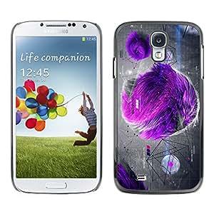 X-ray Impreso colorido protector duro espalda Funda piel de Shell para SAMSUNG Galaxy S4 IV / i9500 / i9515 / i9505G / SGH-i337 - Fur Gray Drawing Art