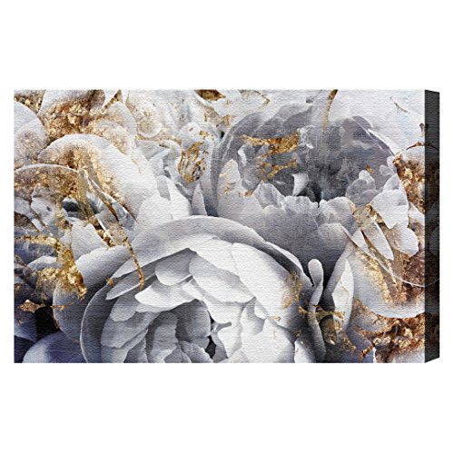 Her Peony Garden by Oliver Gal | Modern Premium Canvas Art Print. The Floral and Botanical Wall Art Decor Collection. 24x16 inch, (Her Garden)