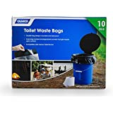 Camco Toilet Waste Bags -Durable Double Bag Design is Leak-Proof, Inner Bag Gels Any Liquid, Great for Camping, Hiking and Hunting and More -10 Pack (41548), Black
