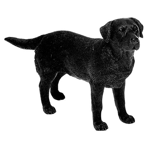 Leonardo Black Labrador Retriever Dog Figurine Statue Attractive Ornament Gift For A Dog Lover
