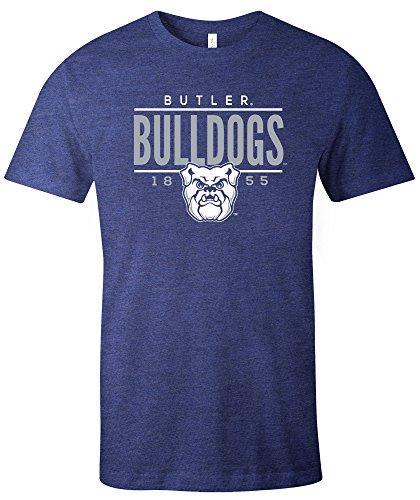 NCAA Butler Bulldogs Tradition Short Sleeve Tri-Blend T-Shirt, Navy,Medium