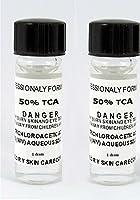 Trichloroacetic Acid TCA 50% Chemical Peel, 2-1 Dram Bottles Trichloroacetic Acid, Medically Pure