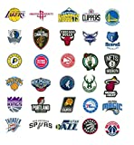 NBA Decal Stickers Basketball New Team Logo Designs Licensed Complete Set of All 30 Teams