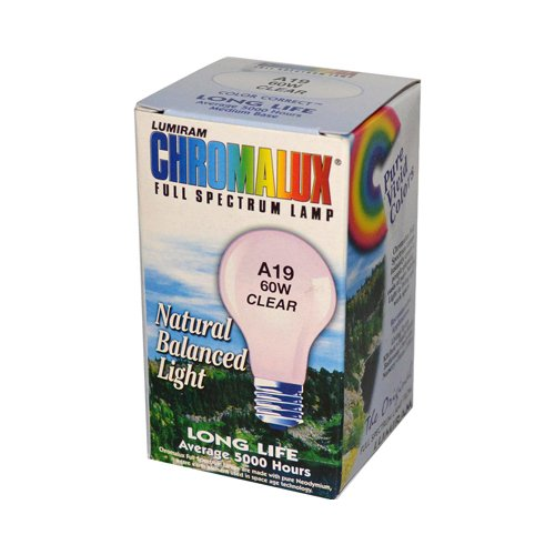Chromalux Light Bulb Clear 60W 60W Blb