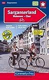Sarganserland - Chur - Domleschg. Velokarte Blatt 13 (Maßstab: 1:60000) (Schweizer Velokarten) (Kümmerly+Frey Velokarten)