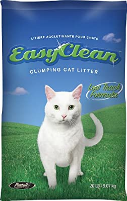 Pestell Pet Products Easy Clean Low-Track Scoopable Litter, 20-Pound Bag