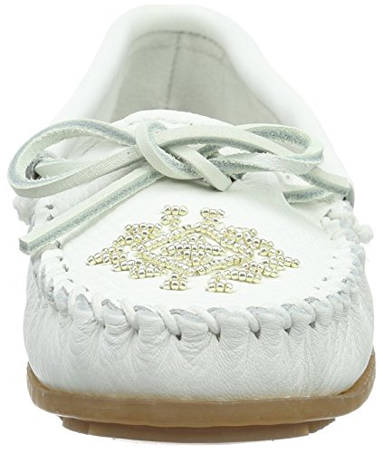 comfortable cheap online Minnetonka Women's Deerskin Beaded Moccasin Loafers Shoes White official site online 7g0jZ6hdon