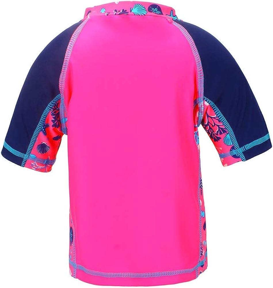 LACOFIA Maillots de Bain /à Manches Courtes pour B/éb/é T-Shirt de Bain Protection Solaire UPF50 pour Enfants S/échage Rapide