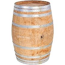 """MGP Conjunto de madera de roble barril de vino, 26"""" D x 35"""" H"""