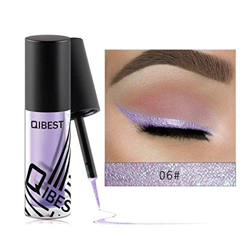 liquid eyeliner glitter smoky long