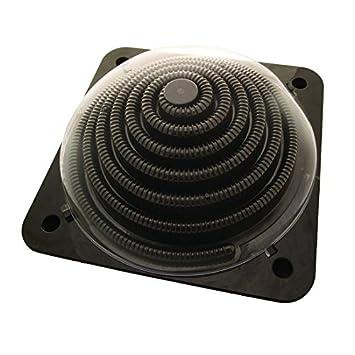 Solar Calefacción Dome Pool 5 litros, para piscinas de hasta 7000 l, negro,