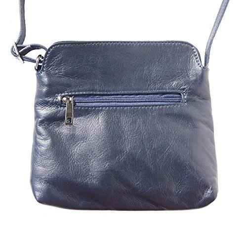 Florence Market Sac À Marine Bandoulière En Veau Sacs Free Cuir Souple6110 De Véritable Leather Bleu Be orBxdCe