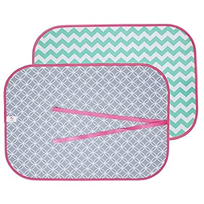 the Coral Palms Swimsuit Saver Roll-up Neoprene Mat Chevron & Circles: Home & Kitchen