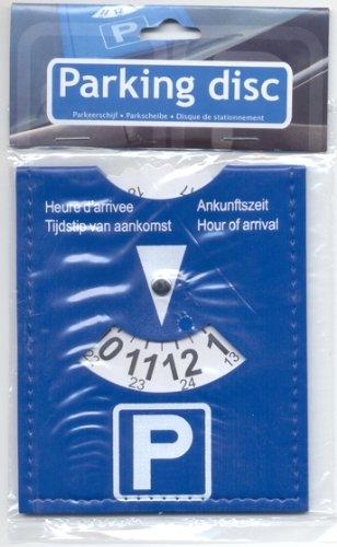 Parkscheibe Kunstleder Vinyl flexibel blau 15 x 11 cm nach der StVO AM/63