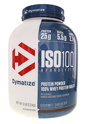 Dymatize Nutrition ISO 100, Whey Protein Powder, Gourmet Chocolate, 5...