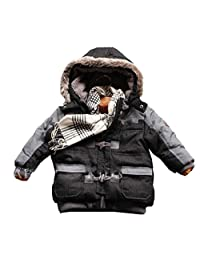Infant Baby Boys Hooded Winter Warn Thick Coat Jackets