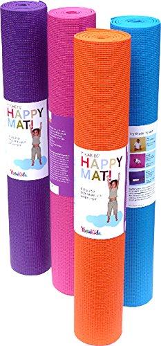 yogakids Happy Mat Esterilla de yoga para niños, azul ...