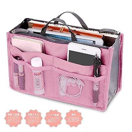Multi-Pocket Handbag Organizer Purse Insert Liner Pouch Medium Size