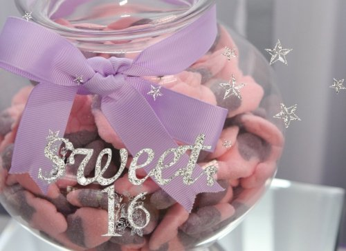 Sweet-16-Bling-Candy-Guest-Book-Message-Book-Keepsake-Use-For-Birthdays-60-blank-pages-825-x-6-soft-back-cover