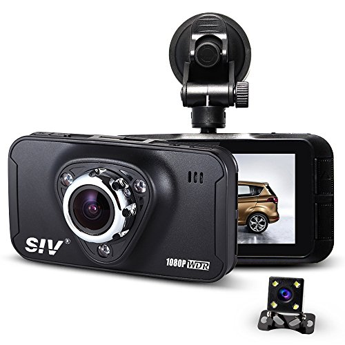 Dual Dash Cam Full Hd 1080P Car Dvr 2.7 Inch 170°Wide Angle Dashboard Camera Recorder With Rear View Camera Night Vision