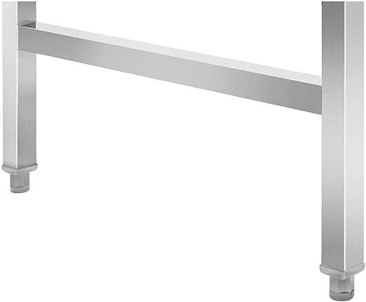 Capacit/é De 215 kg, Surface De 70 x 120 cm, Pieds R/églables En Hauteur, Inox Royal Catering Table De Travail Pliante Pliable Professionnelle /Établi Pliant Professionnel RCAT-120//70KE