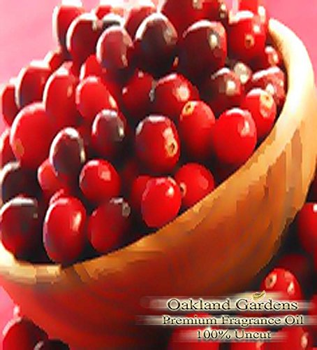 SPICED CRANBERRY Fragrance Oil - A classic holiday scent! Tart cranberry, warm cinnamon, and spicy clove dappled with droplets of sweet mandarin orange - By Oakland Gardens