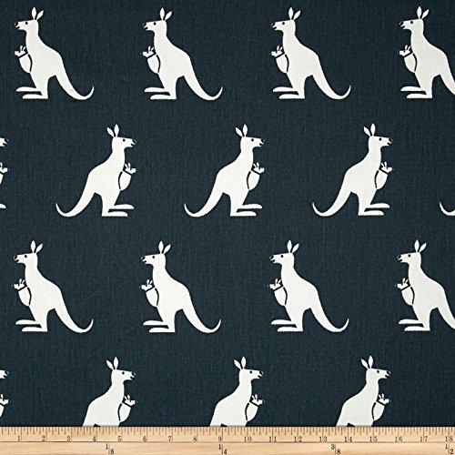 Premier Prints Kangaroo Twill Gunmetal/White Fabric By The Yard