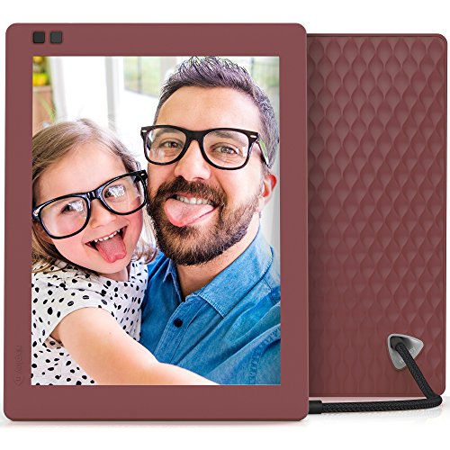 Nixplay Seed 10 Inch WiFi Cloud Digital Photo Frame with IPS Display, iPhone & Android App, iOS Video Playback, Free 10GB Online Storage, Alexa Integration and Hu-Motion Sensor – Mulberry (W10A)