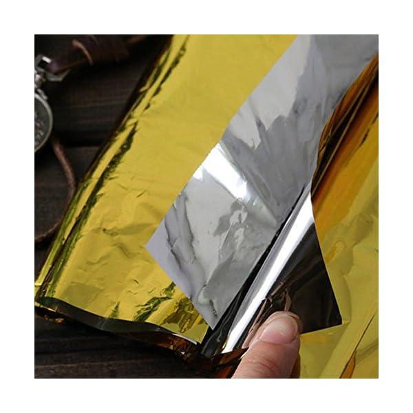 Ndier - Manta de emergencia, manta térmica, manta térmica para protección del calor, multifunción, manta de primeros… 6