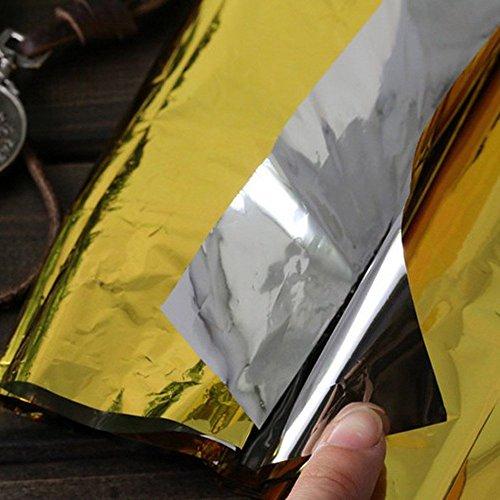 Ndier - Manta de emergencia, manta térmica, manta térmica para protección del calor, multifunción, manta de primeros auxilios, color dorado, 210 x 130 cm 5