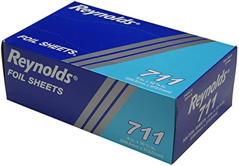 12 x 10 3//4 Reynolds Wrap 720 Pop-Up Interfolded Aluminum Foil Sheets Silver 200 Per Box Case of 12 Boxes