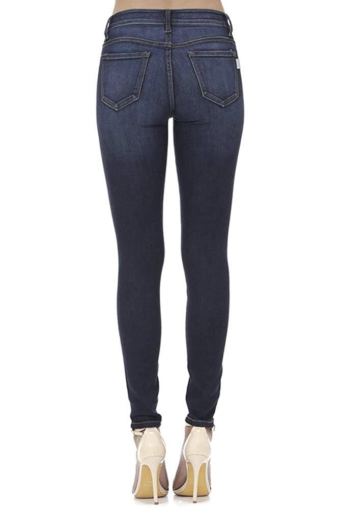 26 Nature Denim Super Skinny Mid Rise Jeans Dark Wash