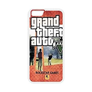 GTA 5 Scenes Playcard iPhone 6 Plus 5.5 Inch Cell Phone Case White&Phone Accessory STC_157491