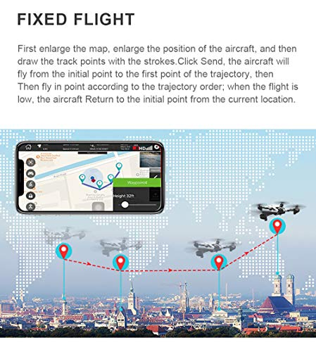 Hisoul SG900-S Foldable Quadcopter Drone 2.4GHz 1080P HD Camera WiFi FPV GPS Fixed Point Drone - One Button Fixed Height/GPS Fixed/Fixed Height/Smart Follow, Round Point Flight, Black, White (B) by Hisoul (Image #4)