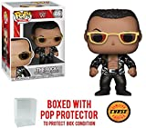 Funko Pop! WWE The Rock Old School - CHASE Limited Edition Vinyl Figure (Bundled with Pop BOX PROTECTOR CASE)