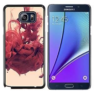 TECHCASE---Cubierta de la caja de protección para la piel dura ** Samsung Galaxy Note 5 ** --Abstracto rojo