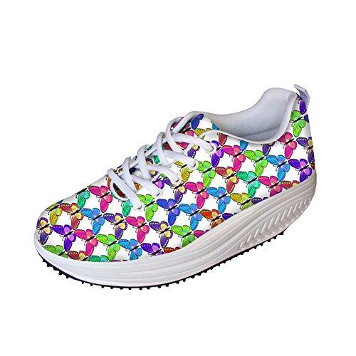 FOR U DESIGNS Fashion Shoes Womens Platform Swing Wedge Rocker Evelator Shoes for Outdoor Walking Sport Size 39