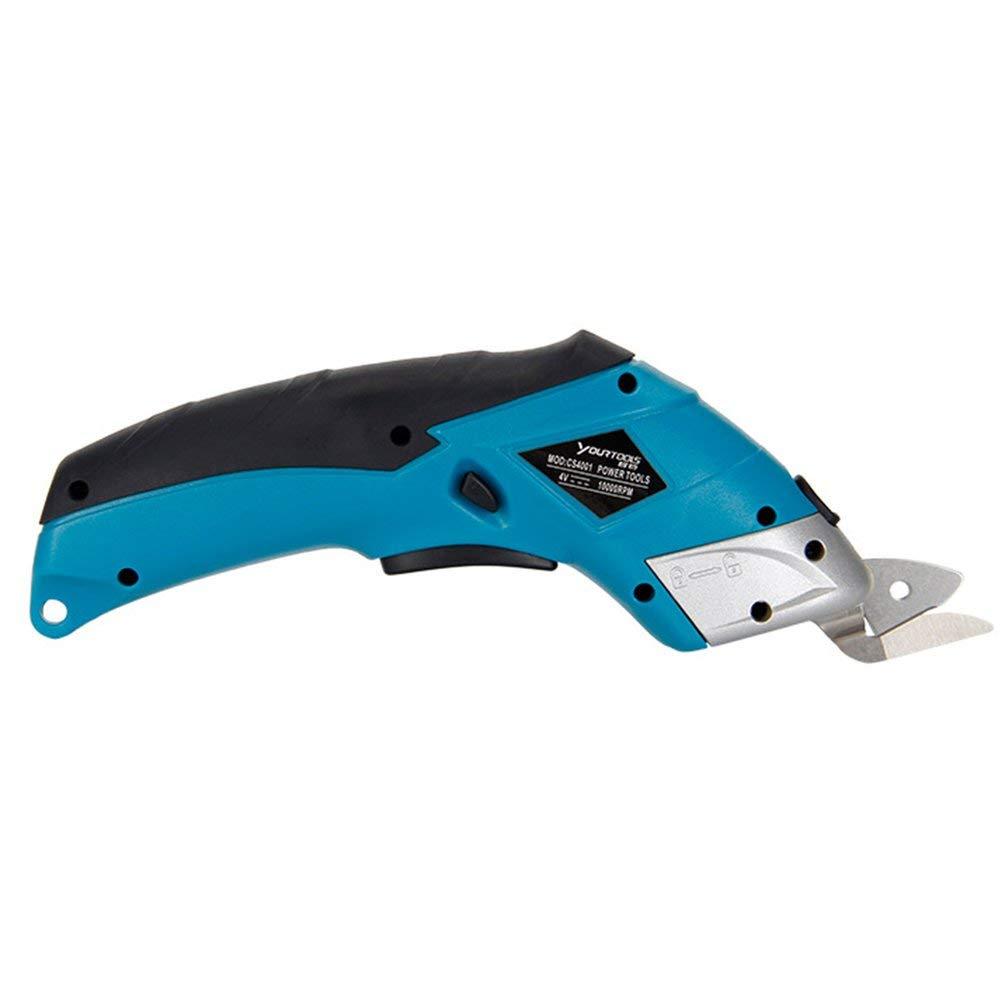 Mouchao Elektro-Stoffscheren-Kastenschneider Akku-Scheren-Schneidwerkzeug f/ür das Handwerk Blau