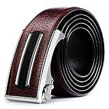 Men's Belt/Business Leather Belts/Youth Belt-dark brown 110cm(43inch)